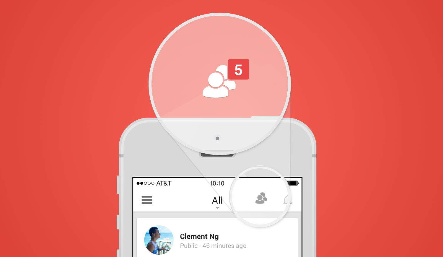 Connecting people on the Google+ platform